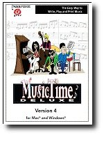 Music Time Deluxe - The Easy Way to Write, Play, and Print Music  - Windows & Mac